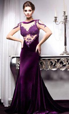 304404c86b Rochii de seara - COLECTIA Velvet Angels VOLVERE    Purple Dress ...