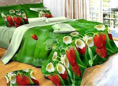 Strawberry bedding...