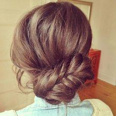cute braided bun