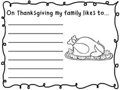 Thanksgiving Fill In The Blank