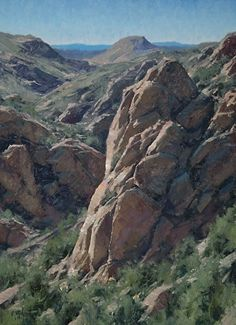 """Amazing rock painting. Matt Smith is a great artist! """"Sycamore Canyon"""" by Matt Smith Oil ~ 22"""" x 14"""""""