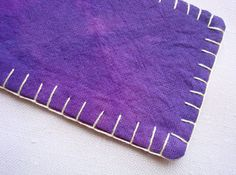 purple fabric bookmark