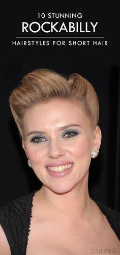 10 Stunning Rockabilly Hairstyles For Short Hair