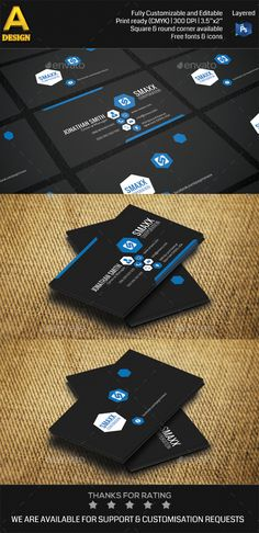 Modern Corporate Business Card Template PSD | Buy and Download: http://graphicriver.net/item/modern-corporate-business-card-hp0002/8953149?WT.ac=category_thumb&WT.z_author=annozio&ref=ksioks