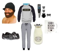 """""""kyky"""" by lyndisayshello ❤ liked on Polyvore featuring New Balance, adidas, men's fashion and menswear"""