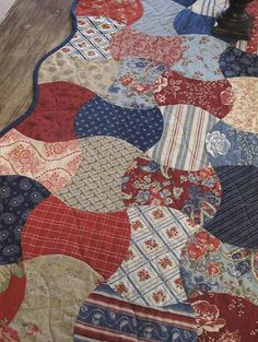 Idea for my Prairie Paisley fabric Blue Quilts, Small Quilts, Scrappy Quilts, Jellyroll Quilts, Mini Quilts, Patchwork Appliqué, Vintage Quilts, Quilting Designs, Quilting Projects