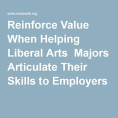 liberal arts degree skills opinion