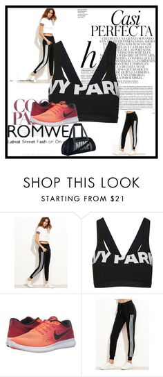 """""""romwe"""" by inspiredbyart345 ❤ liked on Polyvore featuring Topshop, NIKE and Whiteley"""