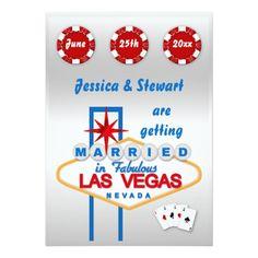 Las Vegas Wedding Invitations Las Vegas Wedding Card