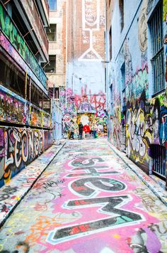 Graffiti on Hosier Lane in Melbourne, Australia