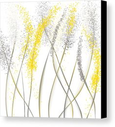 Grey Abstract Painting - Neutral Sunshine - Yellow And Gray Modern Art by Lourry Legarde Yellow Canvas Art, Modern Canvas Art, Yellow Art, Yellow Painting, Diy Painting, Canvas Art Prints, Modern Art, Gray Yellow, Canvas Paintings