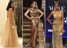 GOLDEN DRESS BAILE DA VOGUE 2015