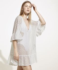 Crochet tunic - Dresses Spring Summer 2017 trends in women fashion at Oysho online. Find lingerie, pyjamas, slippers, nighties, gowns, fluffy, maternity, sportswear, shoes, accessories, body shapers, beachwear and swimsuits & bikinis.