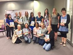 A happy group from Hanen's Learning Language and Loving It™ workshop in Auckland, New Zealand led by Hanen Instructor, Janice Greenberg along with Alannah Murray! Early Intervention, Auckland, New Zealand, Workshop, Language, Led, Group, Education, Learning