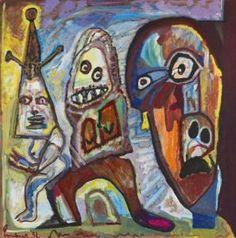 """Lucebert/""""Baas"""" (boss), oil/canvas 90x89,5cm (1992)"""