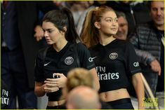 Kendall Jenner & Gigi Hadid Check Out Some Soccer in Paris!: Photo #875257. Kendall Jenner and Gigi Hadid look like they're having a ball while taking in the Paris St. Germain soccer match on Sunday (October 4) at Parc des Princes in Paris,…