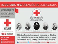 1863 Conferencia Internacional celebrada en Ginebra, que conducirá a la creación de Sociedades Nacionales y a la adopción de la Cruz Roja como emblema protector.   #NuestrosPrincipiosenAccion #CruzRojaMexicana #CruzRojaGuasave