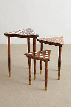 Mother-Of-Pearl Nesting Tables Set - $698