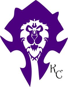 Horde and Alliance tattoo in Purple,  because Horde is red and Alliance is blue.