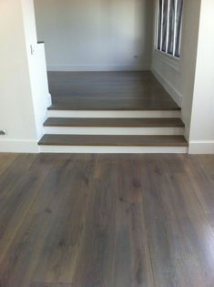 Dark Stained White Oak House Style Hardwood Floor