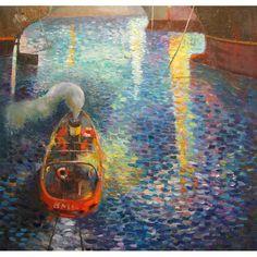 Night Maneuvers, oil on canvas, 80 x 80 cm, by Todor  Ignatov - Tony  http://buyart.tonyignatov.eu/
