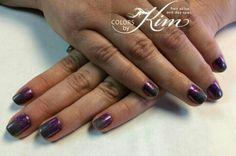 Glittered Ombre Gel Polish Manicure created by Kerri!  colorsbykim.com