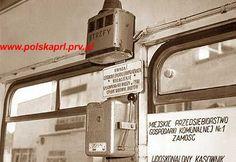 Aparat do kasowania biletow w autobusie MPK