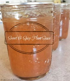 This plum sauce recipe is the perfect sweet and spicy recipe to can up for all year eating. Easy step by step tutorial, easy, even if you're new to canning.