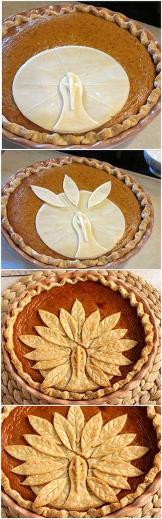 Adorable Turkey Crust Pumpkin Pie                                                                                                                                                                                 More