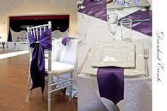 Tiffany Chair with purple Tie Back