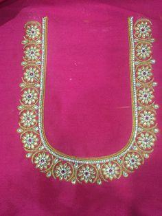 pink blouse Wedding Saree Blouse Designs, Best Blouse Designs, Simple Blouse Designs, Saree Blouse Neck Designs, Simple Designs, Peacock Embroidery Designs, Simple Embroidery Designs, Mirror Work Blouse Design, Maggam Work Designs