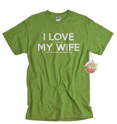 Mountain biking shirt I love it when my wife lets by UnicornTees