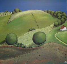 New Folk Art Painting Landscape Grant Wood 28 Ideas American Gothic, American Art, Landscape Art, Landscape Paintings, Grant Wood Paintings, Artist Grants, Arts And Crafts Storage, Collaborative Art, Naive Art