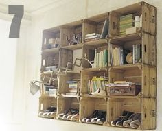 Wood Crate Shelving