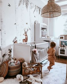 Discover recipes, home ideas, style inspiration and other ideas to try. Baby Bedroom, Baby Room Decor, Childs Bedroom, Forest Baby Rooms, Kids Room Wallpaper, Girl Wallpaper, Toddler Rooms, Kid Rooms, Girl Room