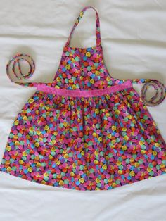 Girls Candy Heart Valentine Apron Pink Heart Valentine Gifts For Kids Size  2 4 6 8