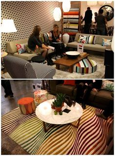 i can use that round pillow under the coffee table with another print as accent
