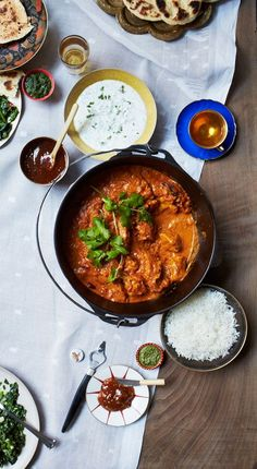 This Chicken Tikka Masala recipe uses yogurt to help tenderize the chicken.