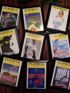 Playbill Ticket Frame Broadway Gifts Pinterest