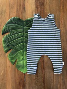 Green Stripe Romper Easy Wear, Green Stripes, Rompers, Knitting, Cotton, Kids, How To Wear, Clothes, Women