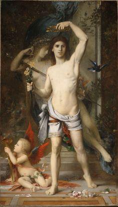 Gustave MOREAU. Le jeune homme et la Mort = The young man and Death [oil on canvas], 1856-1865.
