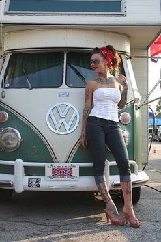 inked girl and vw bus! by alyssa