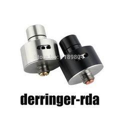 E cigarette Derringer RDA atomizer 22mm mechanical Mod Rebuildable Atomizers Airflow Control dripper 510 vaporizer e cig #Affiliate