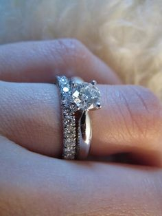 Dream set: Solitaire 1895 and wedding band from Cartier but I only want a band on my finger