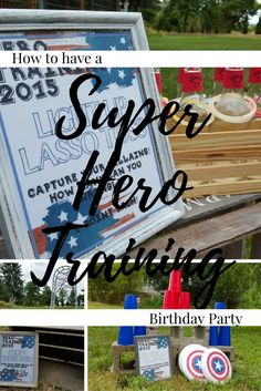 Inspire Others... Cash turned 2 this July and so what better way to celebrate than hosting a little Super Hero Training! Captain America is his favorite and with a July birthday, we landed on a red/white/blue color theme. How to host a Super Hero Training Party for Toddlers Super Hero Training Goals: 1) Make all…