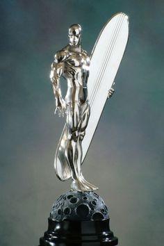 Silver Surfer chrome statue / Bowen Designs