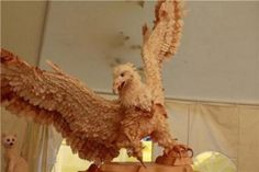 Life-size wooden sculptures of Siberian birds and animals by Sergey Bobkov