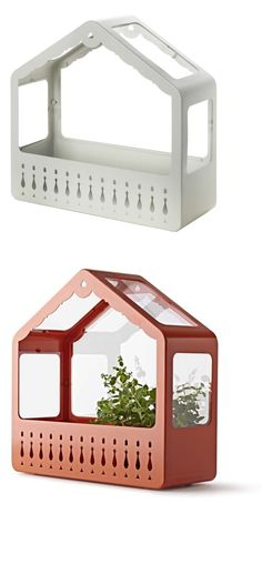 IKEA PS 2014 greenhouse. The greenhouse can hang on the wall or rest on a flat surface. Suitable for both indoor and outdoor use.