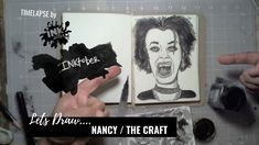 We Drew Nancy from The Craft - Bad Ass Ladies of Horror - Inktober 2018 - Timelapse Art Inktober, Horror, Draw, Crafts, Manualidades, Sketches, Handmade Crafts, Painting, Craft