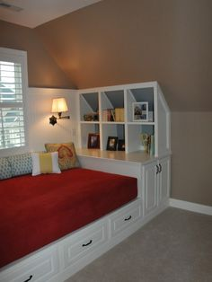 Attic Space Design, Pictures, Remodel, Decor and Ideas - page 40   Love this picture for my bedroom with those terrible slanted ceiling